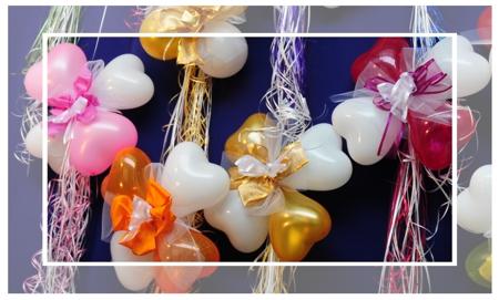 Mini Herzluftballons Dekorationen zur Hochzeit